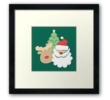 Santa & Reindeer #5 Framed Print