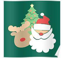Santa & Reindeer #5 Poster
