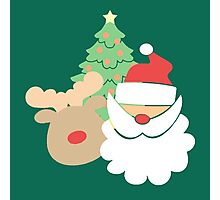 Santa & Reindeer #5 Photographic Print