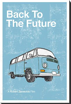Back to the Future Minimalist Poster by Creative Spectator