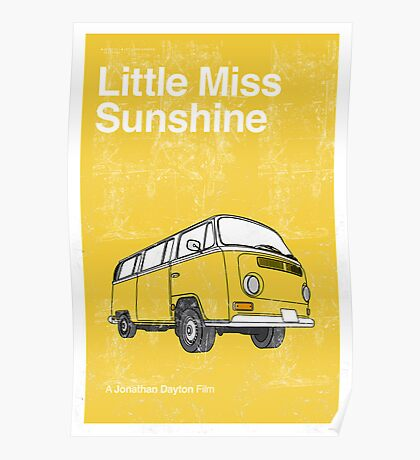 Little Miss Sunshine Minimalist Print  Poster