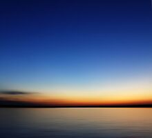 Sunset - View over the lake by Ronny Falkenstein