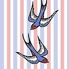 Love Swallows Stripes by IamJane--