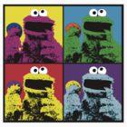 Cookie Monster Pop Art by Mel Preston