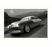 Moonlight Cruiser Art Print