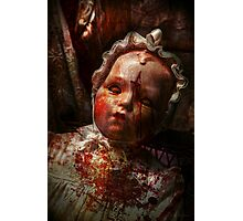 Creepy - Doll - It's best to let them sleep  Photographic Print
