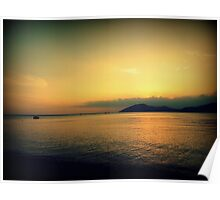 Sanya Boat on South China Sea Poster