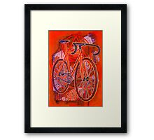Dosnoventa Houston Flo Orange Framed Print