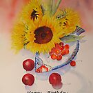 Sunflowers Birthday card by Beatrice Cloake Pasquier