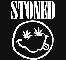 Stoned - white on black Unisex T-Shirt