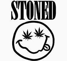 Stoned - black on white Unisex T-Shirt
