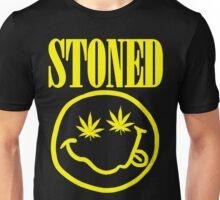 Stoned - yellow on black Unisex T-Shirt
