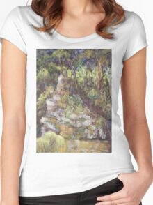 Ellenborough River - plein air Women's Fitted Scoop T-Shirt