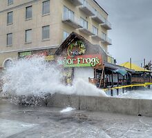 Senor Frog's damaged by Hurricane Sandy at the end of Governor Woodes Rogers Walk in Downtown Nassau, The Bahamas by Jeremy Lavender Photography