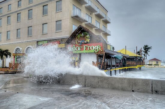 Senor Frog's damaged by Hurricane Sandy at the end of Governor Woodes Rogers Walk in Downtown Nassau, The Bahamas by 242Digital