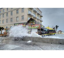 Senor Frog's damaged by Hurricane Sandy at the end of Governor Woodes Rogers Walk in Downtown Nassau, The Bahamas Photographic Print