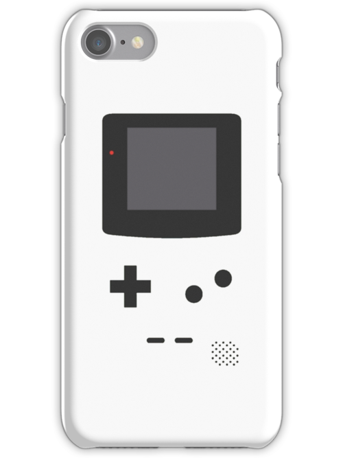Gameboy Iphone Case White by triforce15