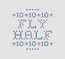 Cross Stitch - Fly Half 10 - Purple/Blue by rugbygifts
