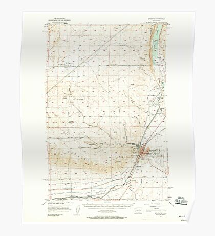 USGS Topo Map Washington State WA Ephrata 241084 1956 62500 Poster
