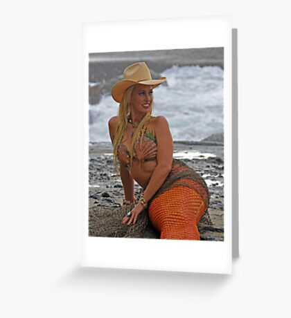Cowgirl Mermaid Greeting Card