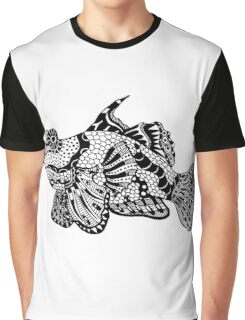 Mandarin Fish Drawing Graphic T-Shirt