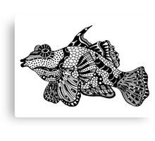 Mandarin Fish Drawing Canvas Print