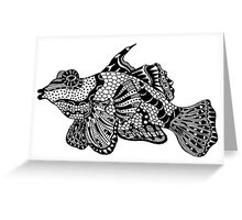 Mandarin Fish Drawing Greeting Card