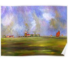 Norfolk landscape Poster