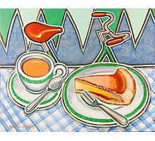 Bakewell Pudding and cup of tea at Eroica Britannia Photographic Print