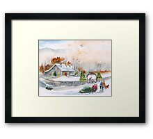 Home In Time For Christmas. 2012 Framed Print