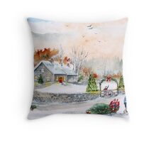 Home In Time For Christmas. 2012 Throw Pillow