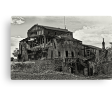 Gristmill Ruin - Platinum Toned Canvas Print