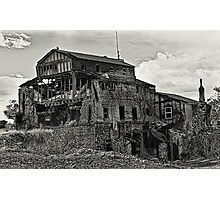 Gristmill Ruin - Platinum Toned Photographic Print