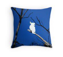 Yellow Sulphur-Crested Cockatoo Throw Pillow