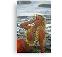 Mermaid with Lei Canvas Print