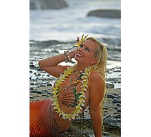 Mermaid with Lei Photographic Print