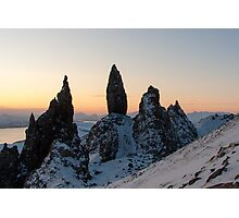 Old Man of Stor at Dawn, Skye, Scotland  Photographic Print