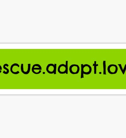 rescue.adopt.love. Sticker