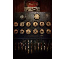 Steampunk - Electrical - Center of power Photographic Print