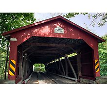 Oldest American Covered Bridge, The Rishel Photographic Print
