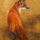 Red Fox - Original Oil Painting by csforest