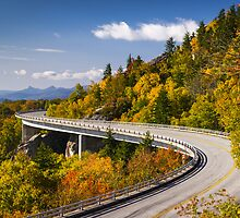Blue Ridge Parkway Linn Cove Viaduct - North Carolina by Dave Allen