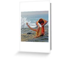 Mermaid with Starfish Greeting Card