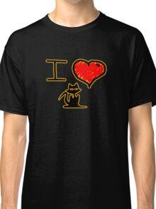 i love black cats Classic T-Shirt