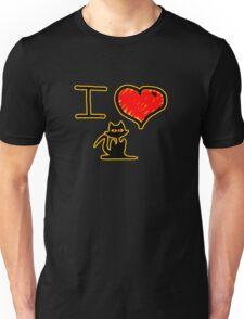 i love black cats Unisex T-Shirt