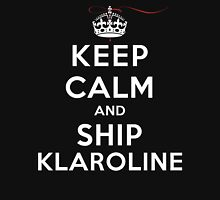 Keep Calm and Ship Klaroline (DS) Womens Fitted T-Shirt