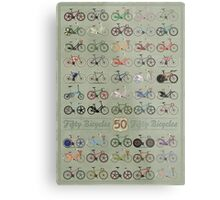 Fifty Bicycles Metal Print
