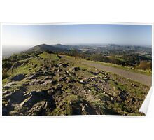 Malvern Hills from Worcestershire Beacon Poster