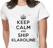 Keep Calm and Ship Klaroline (LS) Womens Fitted T-Shirt