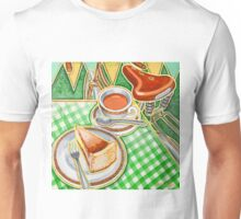 Eroica Britannia Bakewell Pudding and cup of tea on green Unisex T-Shirt